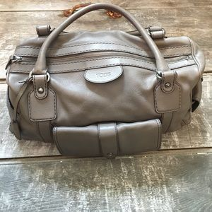 Tod's Grey Leather Satchel